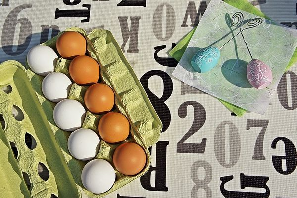 画像1: 赤白卵30個入り化粧ケース